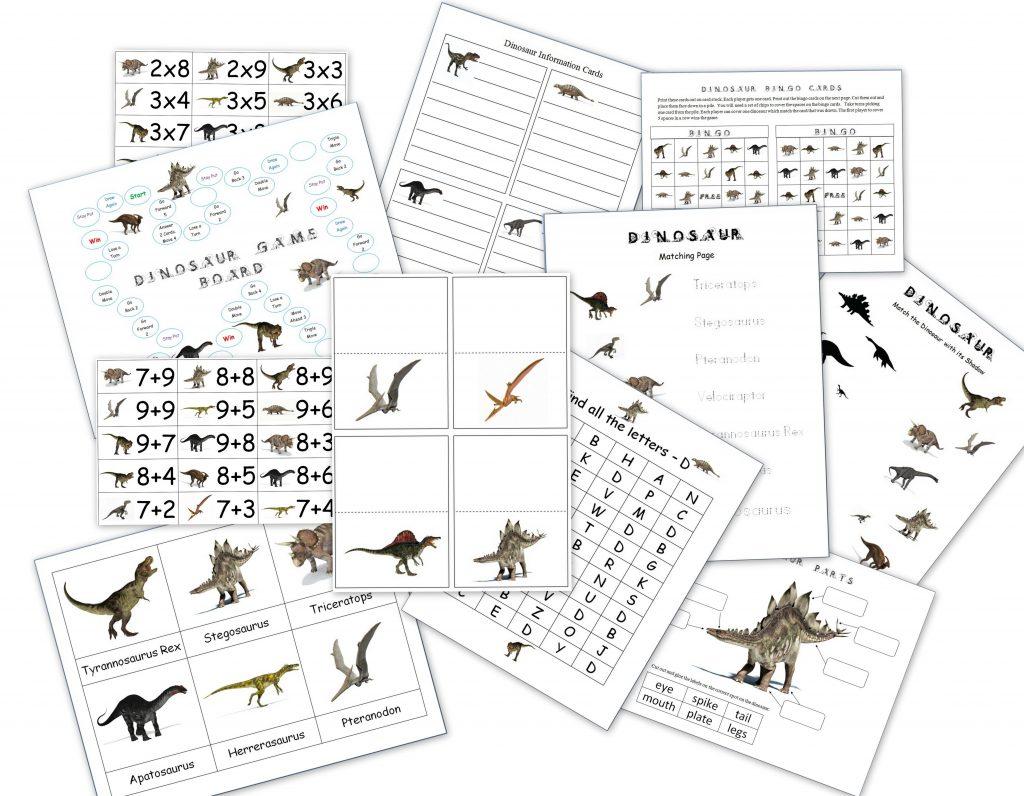 hight resolution of Dinosaur Packet for 3-7 Year Olds - Homeschool Den