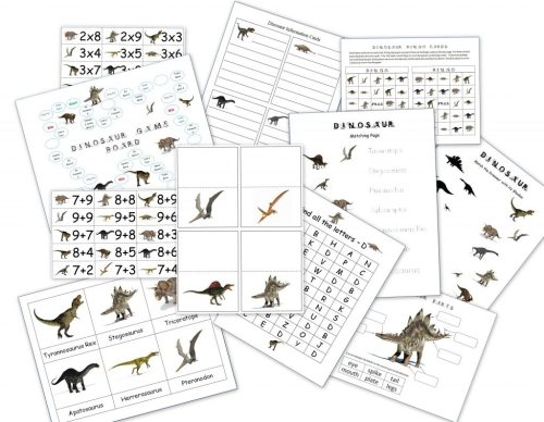 small resolution of Dinosaur Packet for 3-7 Year Olds - Homeschool Den