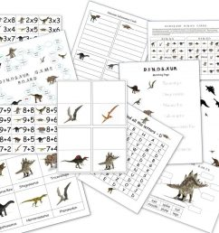 Dinosaur Packet for 3-7 Year Olds - Dinosaur Lapbook [ 796 x 1024 Pixel ]