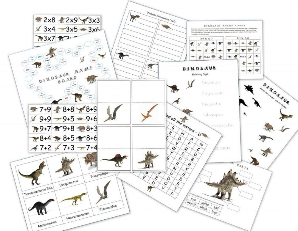 medium resolution of Dinosaur Packet for 3-7 Year Olds - Dinosaur Lapbook