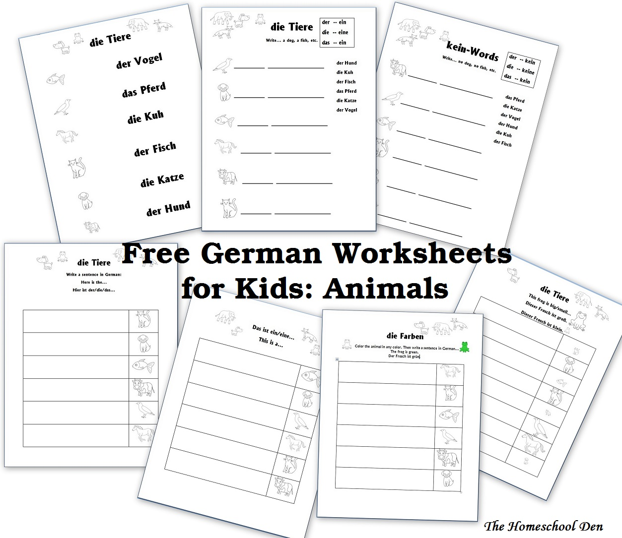 German Worksheets Valentinstag
