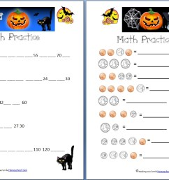 Free Halloween Math Worksheets: Addition [ 821 x 1279 Pixel ]