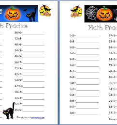Free Halloween Math Practice Pages: Multiplication [ 823 x 1281 Pixel ]