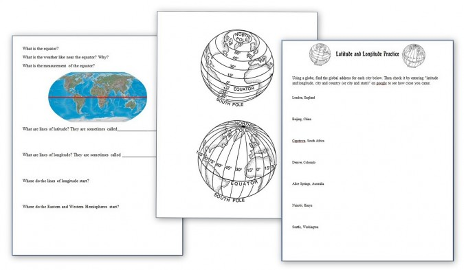 Learning Latitude, Longitude and Using a Compass