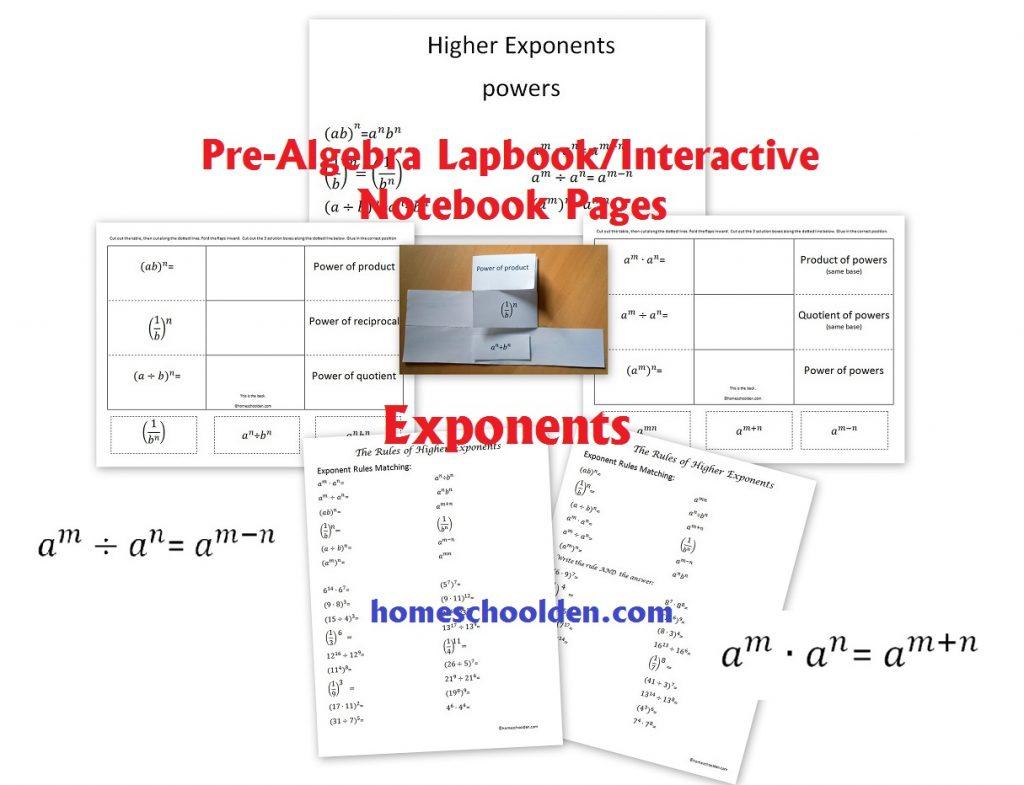 hight resolution of PreAlgebra - Exponents Worksheet and Interactive Notebook Pieces -  Homeschool Den
