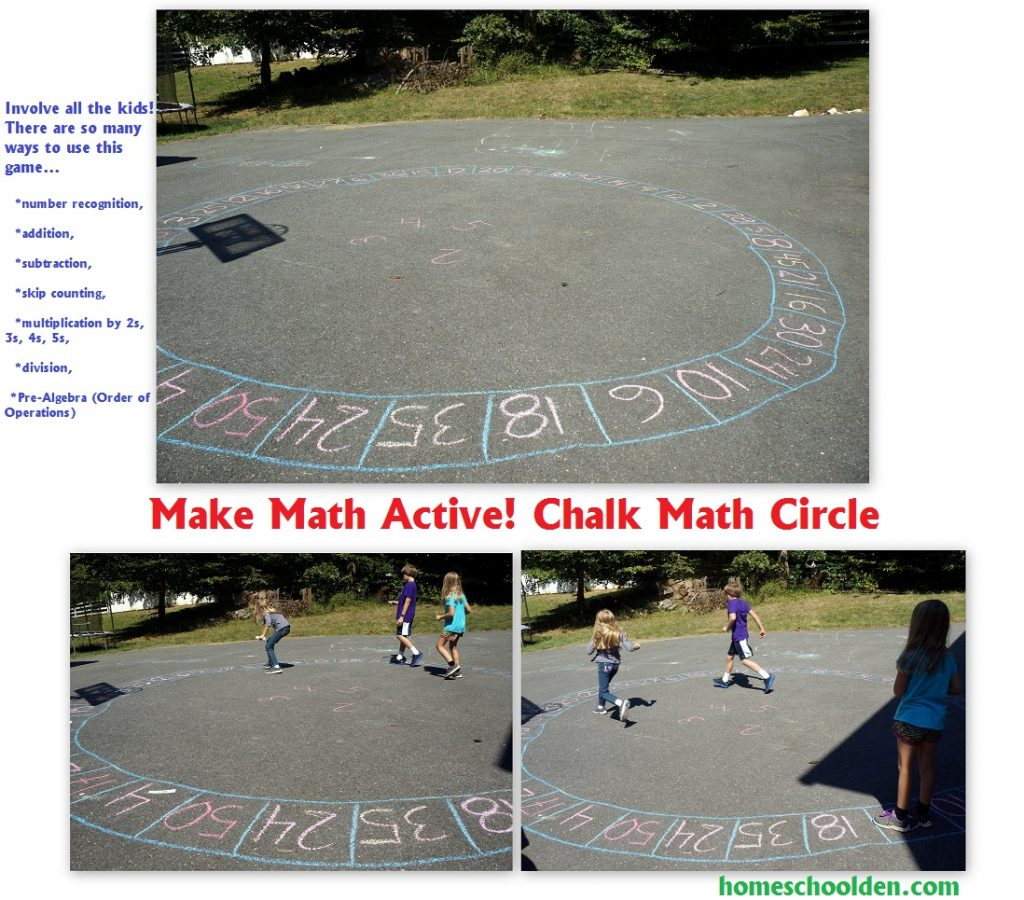 Chalk Circle Game Outdoor Math Game For Anything From