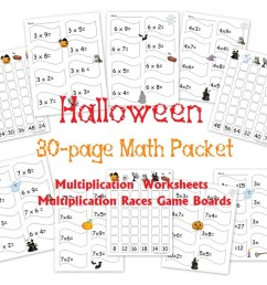 Free 30-Page Halloween Multiplication Packet: Math Worksheets and Games -  Homeschool Den [ 819 x 1024 Pixel ]