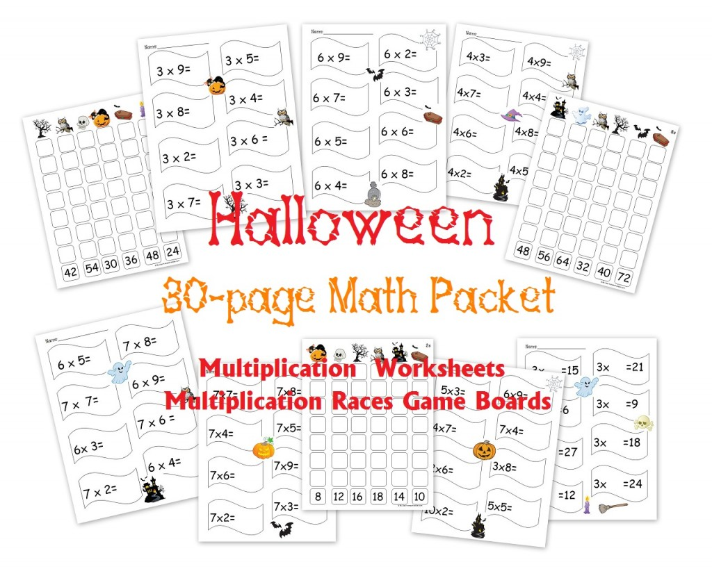 hight resolution of Free 30-Page Halloween Multiplication Packet: Math Worksheets and Games -  Homeschool Den