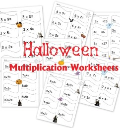 Free 30-Page Halloween Multiplication Packet: Math Worksheets and Games -  Homeschool Den [ 877 x 1009 Pixel ]