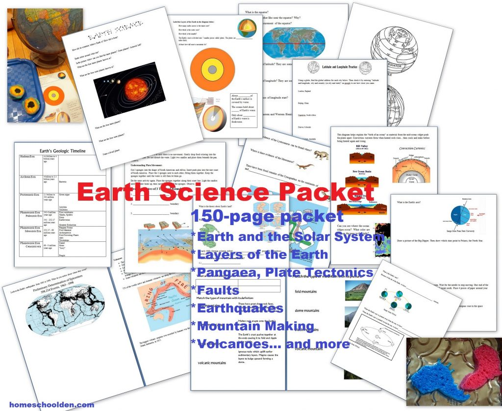 hight resolution of Earth Science Packet: Layers of the Earth