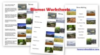Biology Unit on the Biosphere: biomes, ecosystems