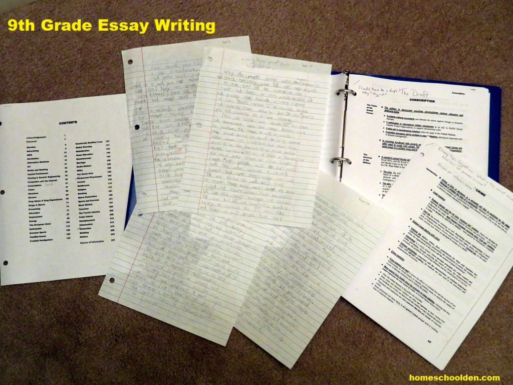 hight resolution of Essay Writing (LD's 9th Grade Writing Activities) - Homeschool Den