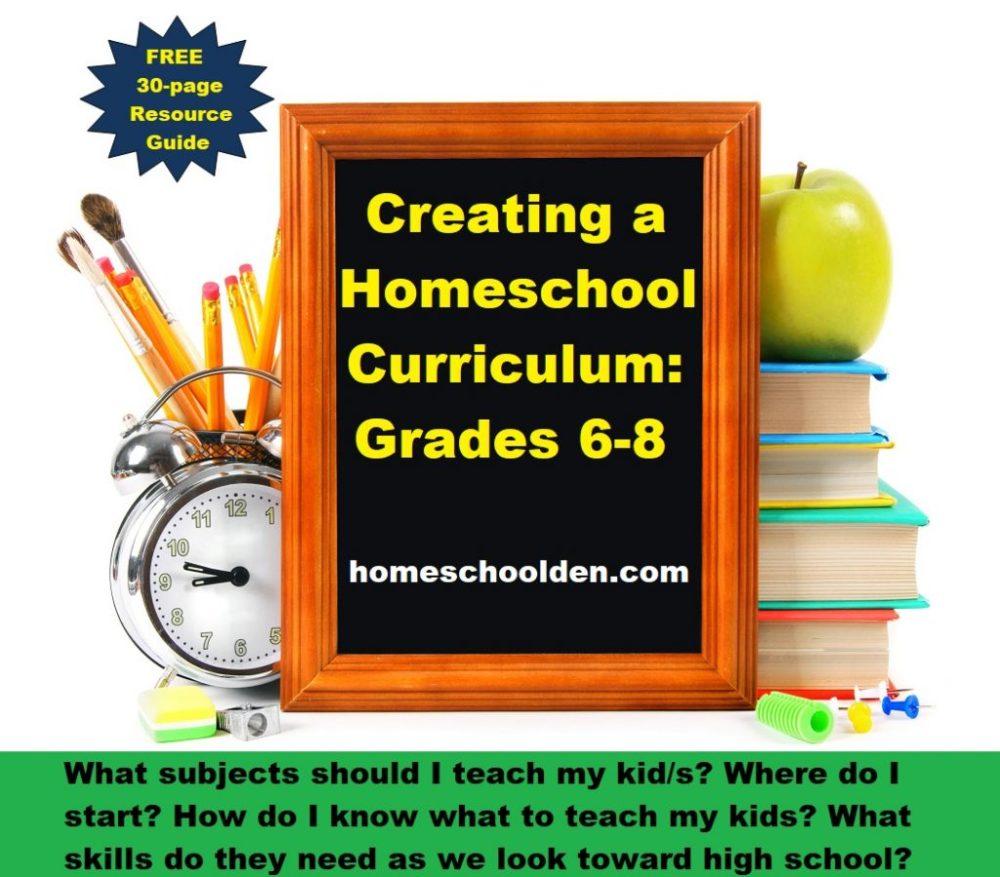 medium resolution of Creating Your Homeschool Curriculum