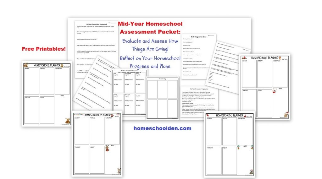 Mid-Year Homeschool Assessment Packet: Evaluate, Reflect