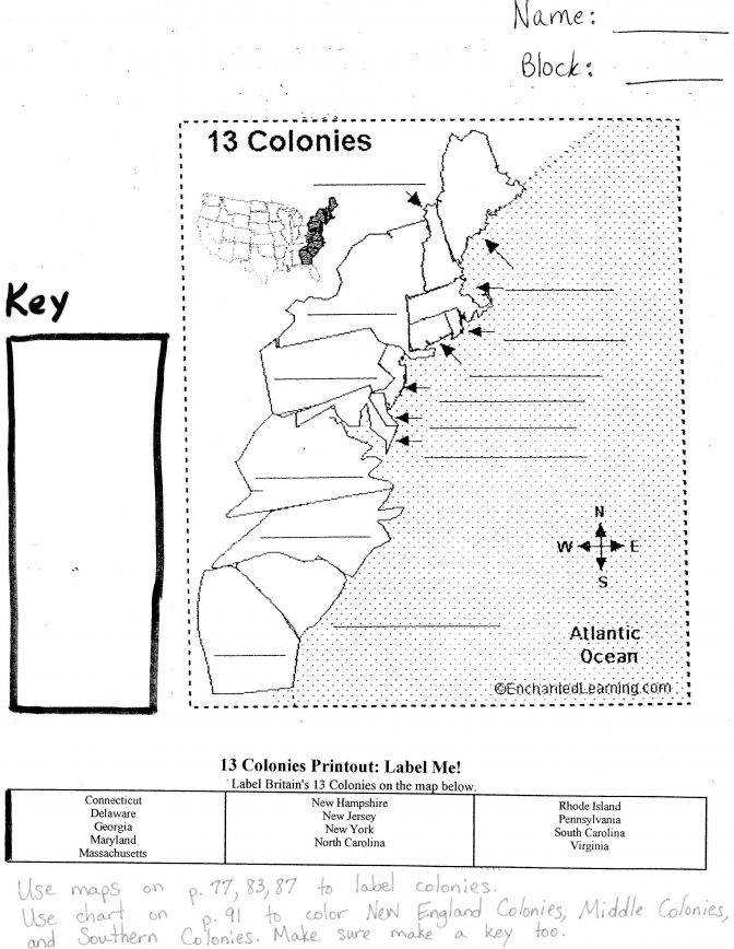 Maps 13 Colonies Worksheets For High School. Maps. Best