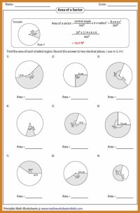 Area Of Circle Worksheet | Homeschooldressage.com