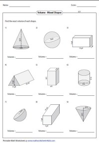 Area Of Composite Figures Worksheet