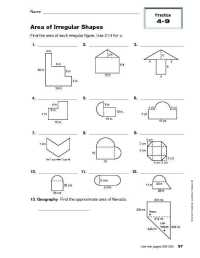 Area Of Irregular Shapes Worksheet