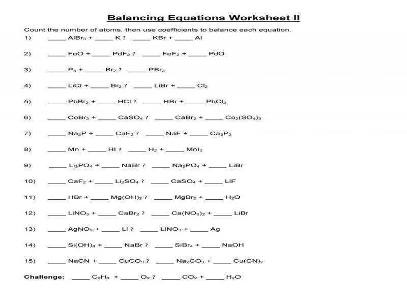 Chemical Reactions Worksheet Answers Chemfiesta