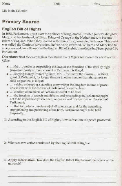 Bill Of Rights Worksheet     picturesso further The Us Consution Worksheet Inspirational Original 1 Government additionally  also English Bill of Rights Excerpts by groovingup   Teaching Resources besides What Is the English Bill Of Rights    Definition  Summary   History additionally 17 Best Images Of English Bill Of Rights Worksheet  Bill Of Rights together with  additionally Bill Of Rights Worksheets   Free Printables Worksheet also Interpreting The Bill Of Rights Worksheet further Bill Of Rights For Kids Worksheets in addition 17 Best Images Of English Bill Of Rights Worksheet  Bill Of Rights as well English Bill Of Rights Teaching Resources   Teachers Pay Teachers moreover The Bill of Rights  ushistory org also English Bill of Rights of 1689 furthermore English Bill Rights Print also Worksheets English Bill Of Rights Math Practice Solved Problems   US. on english bill of rights worksheet