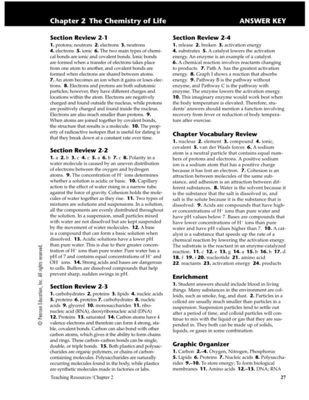 Pearson Chemistry Chapter 6 The Periodic Table Answers Picture Gallery