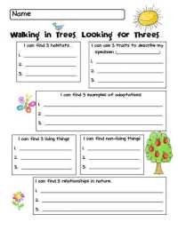 Characteristics Of Living Things Worksheet ...