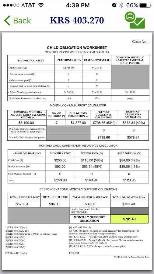 Calculating Child Support  Maryland Child Support Worksheet (part 1  Sole Custody)  Md Legal