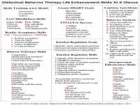 Dialectical Behavior therapy Worksheets ...