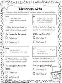 Dictionary Skills Worksheets