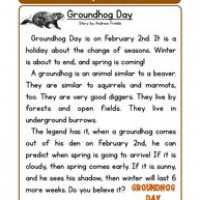Groundhog Day Worksheets