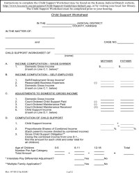 Pictures Washington State Child Support Worksheet - Leafsea