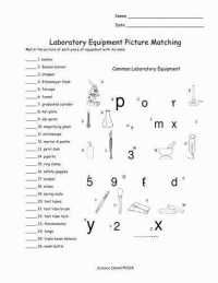 Biology Lab Equipment Worksheet Photos
