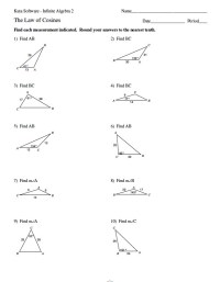 Trigonometry The Law Of Sines Worksheet Answers ...