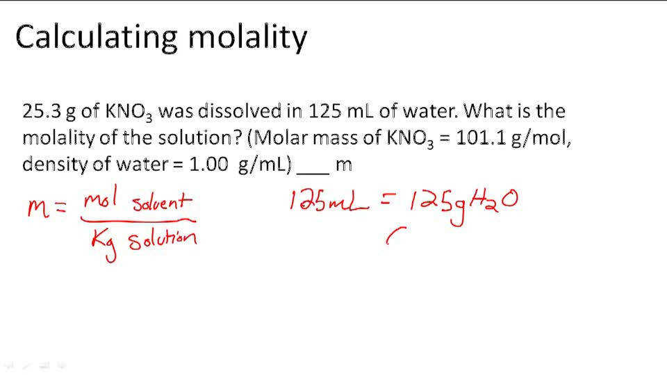 Molality Worksheet