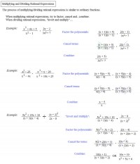 Multiplying Rational Expressions Worksheet ...