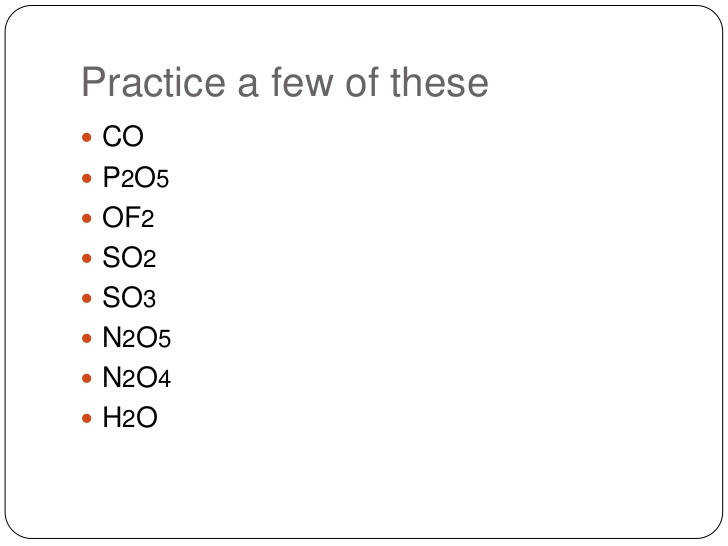 Naming Molecular Compounds Worksheet Answers