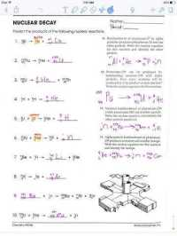 Nuclear Decay Worksheets Math Skills. Nuclear. Best Free ...