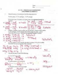 Percent Composition Worksheet