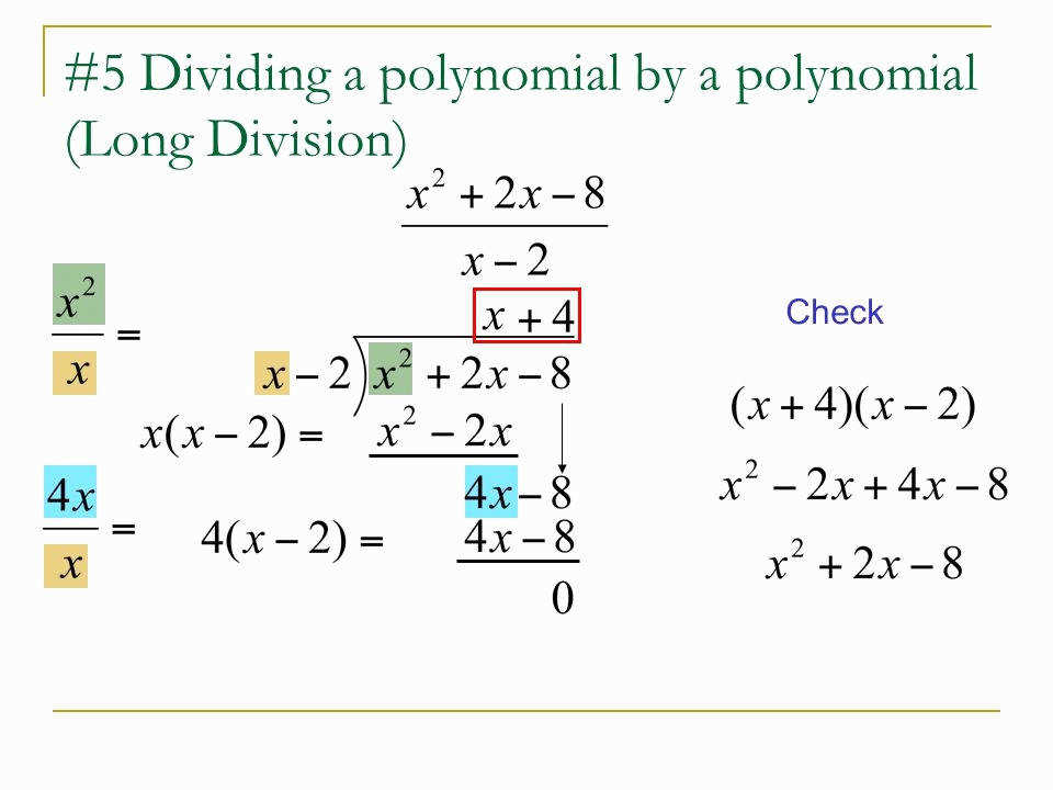 Polynomial Long Division Worksheet