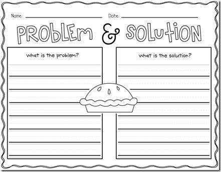 Problem and solution Worksheets
