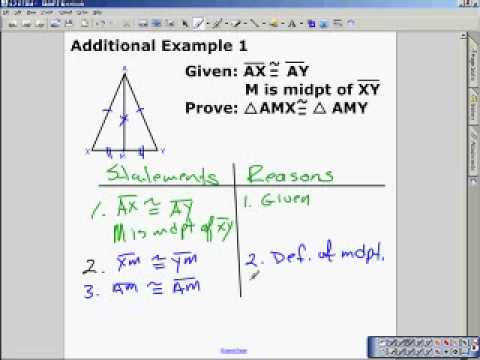 Proving Triangles Congruent Worksheet