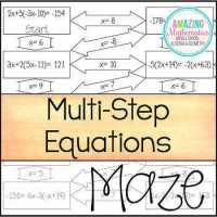 Solving Multi Step Equations Worksheet ...