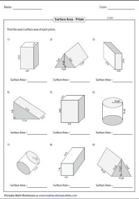 Surface Area Of Triangular Prism Worksheet - wiildcreative