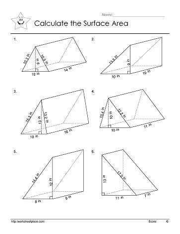 Surface area Of Rectangular Prism Worksheet