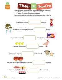 Their there they Re Worksheet | Homeschooldressage.com