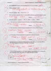 Types Of Chemical Reactions Worksheet Answers ...