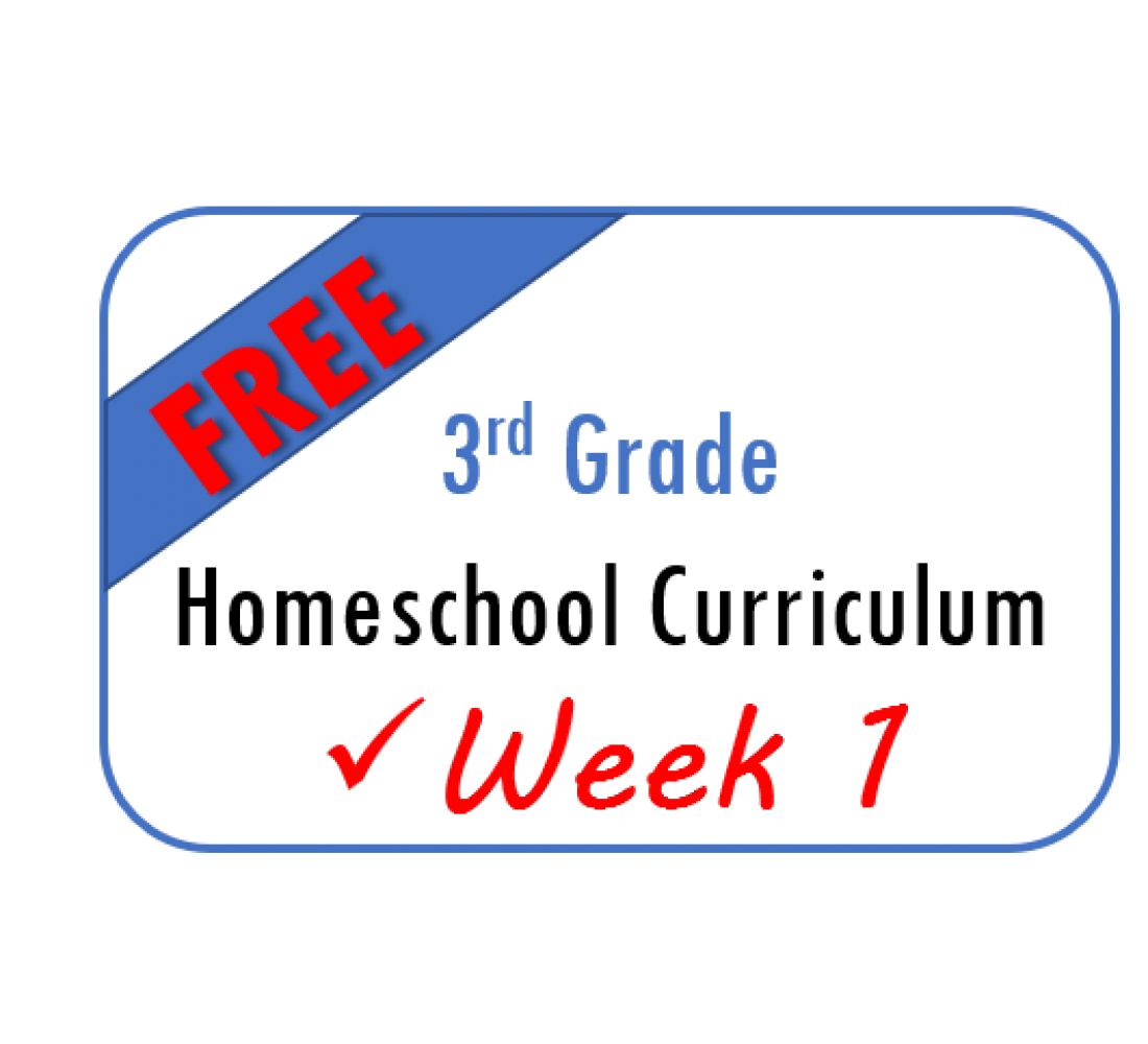 Free Week 1 Homeschool Curriculum 3rd Grade From