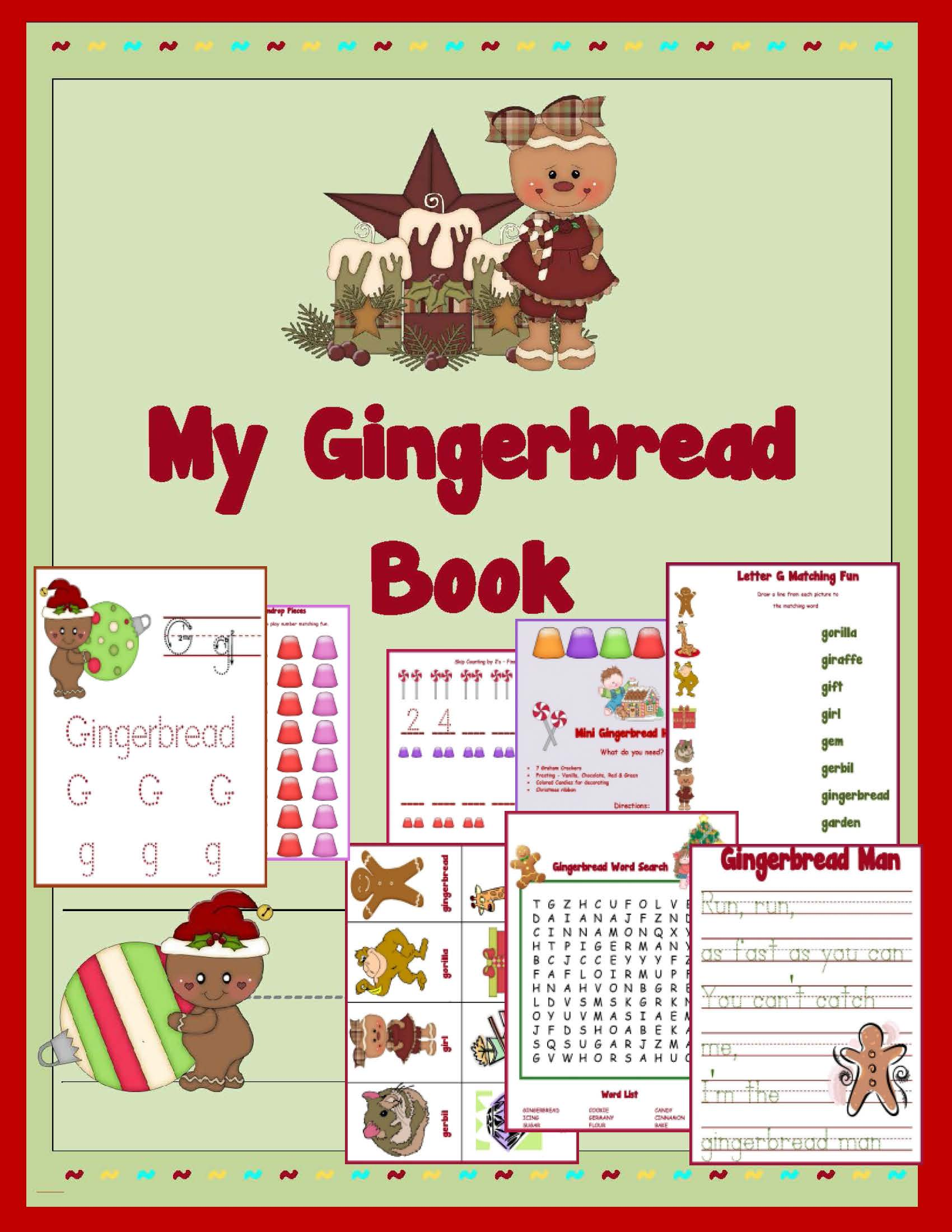 Ginger Bread Printable Packet