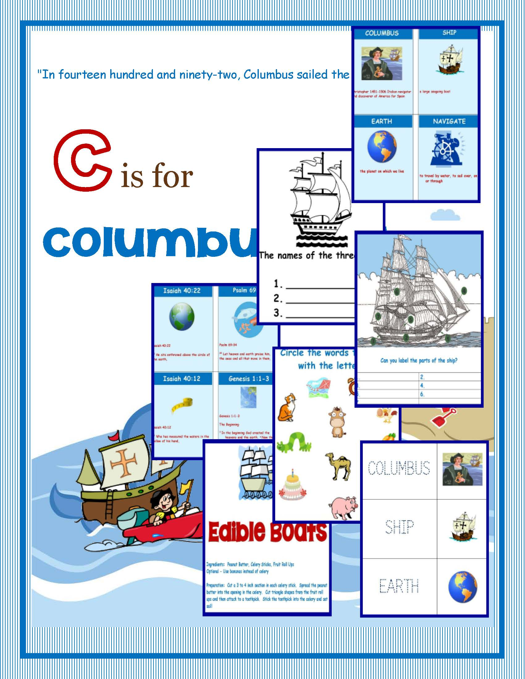 Columbus Day Printable Packet