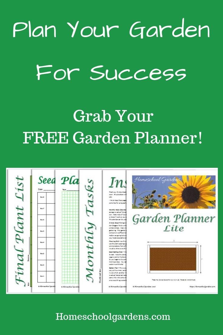graphic relating to Free Printable Garden Planner named Cost-free - Back garden Planner Printable - Homeschool Gardens